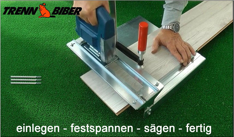 Trenn-Biber 012+3 Stichsägeblätter f. Stichsäge Restposten Laminat Parkett