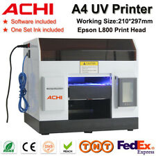 Achi A4 Uv Printer Flatbed Printer Epson L800 Metal Phone Case Sign Printing Usa