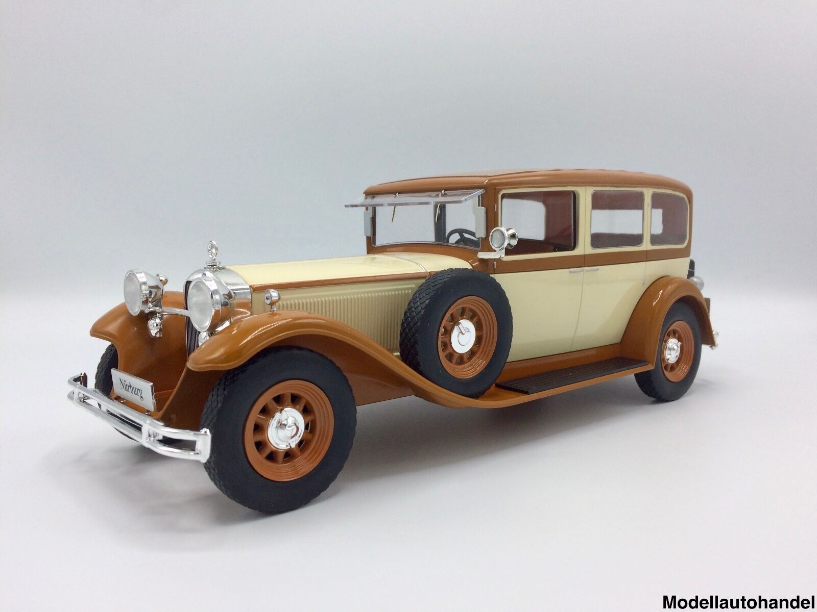 MERCEDES type Nürburg 460 1928 BEIGE MARRON - 1 18 MCG