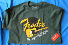 "Fender ""The Original Telecaster"" 100% Cotton,Tee Shirt,Green, XL, MPN 9111001646"