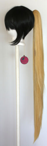 40/'/' Wavy Claw Clip Pony Tail Butterscotch Blonde Cosplay Wig Clip Only NEW