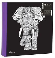 "Zen Elephant Large 6"" x 4'' 200 Photos Slipin Photo Album with Memo Area"