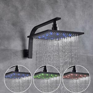 Adjustable Rain Shower Head.Details About 10 Oil Rubbed Bronze Led Rain Shower Head Adjustable Square Shower W Arm
