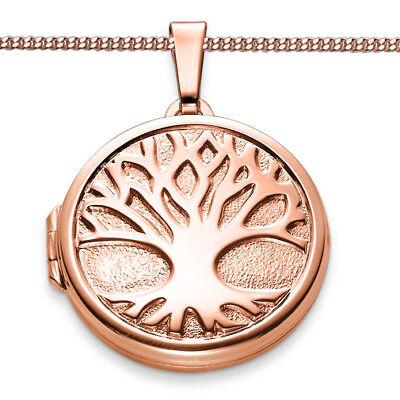 Lebensbaum Foto Medaillon Amulett 2 Bilder Anhänger Kette Silber 925 Rosègold   eBay