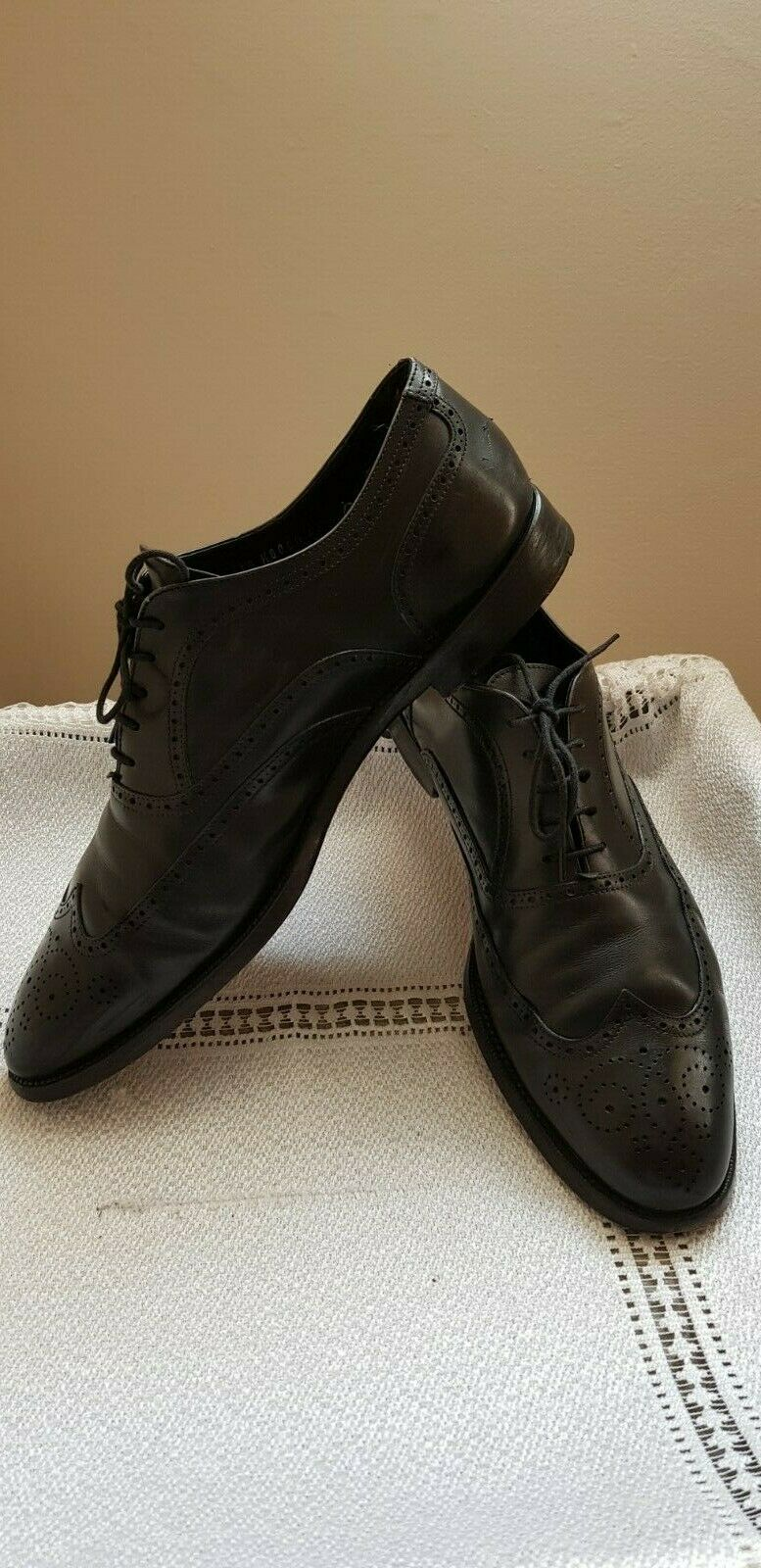 Zapatos de Cuero DUNHILL LONDON hecho a mano en Italia Negro para Hombre-Talla