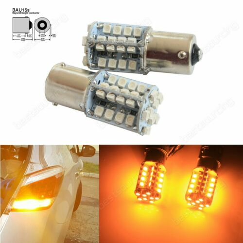 581 PY21W BAU15s Bulb 40 SMD LED Side Indicator Tail Signal Light Lamp DRL Amber