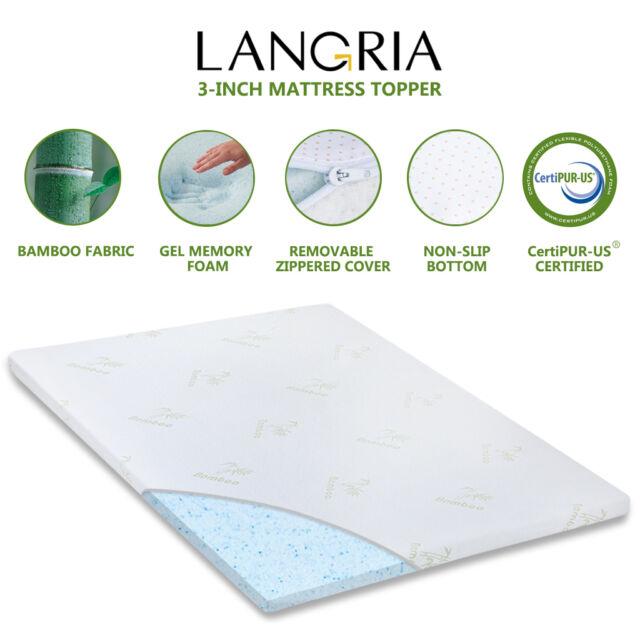 New Cool 3 Quot Ultimate Comfort Plush Memory Foam Gel Bed