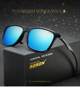 c258c096f4c Image is loading Luxurious-Mens-Retro-Polarized-Sunglasses-Metal-Aviator- Glasses-