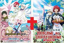 DVD Japan Anime Akagami No Shirayukihime Complete Season 1+2 (1-24 End) Eng Sub
