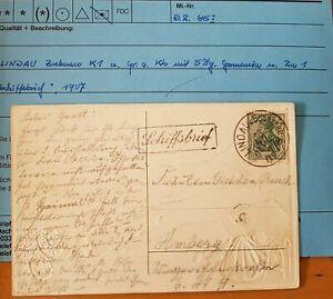 Lindau-Gruss-vom-Bodensee-Reliefpostkarte-1907-Ra1-Schiffsbrief-5Pfg-Germania