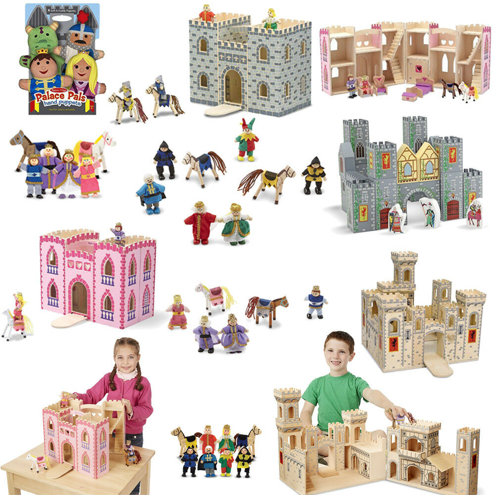 School Learning Toys Folding Wooden Princess Medieval Castle Melissa Doug