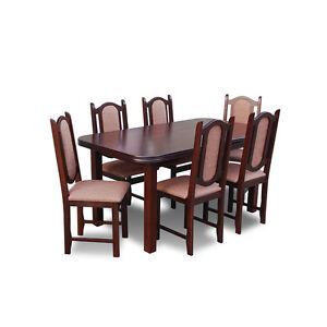 essgruppe rk007 mit 6 st hlen tischgruppe esstisch. Black Bedroom Furniture Sets. Home Design Ideas