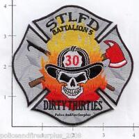 Missouri - St Louis Engine 30 Battalion 5 MO Fire Dept Patch Skull