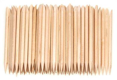 100pcs Orange crude Wood Stick Cuticle Pusher Remover Pedicure Manicure nail art