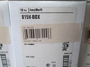 image is loading 815v-box-cooper-wiring-duplex-receptacle-nema6-20r-