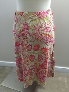 2ce4024f6e Image is loading Talbots-Colorful-Paisley-Tencel-Skirt-4-Aline-Excellent