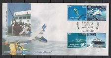 India First Day Cover 2008 Indian Coast Guard Set of 4 Stamps