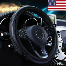 Black Leather Car Steering Wheel Cover Breathable Anti Slip Car Accessories Us Fits 2007 Sportage