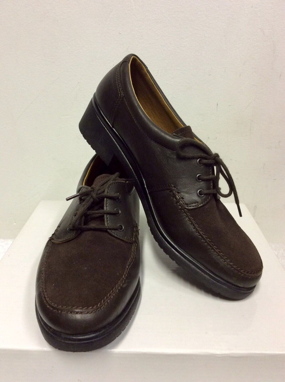 RHODE marron LEATHER & SUEDE LACE UP LOAFERS Taille UK UK UK 6 39 511743