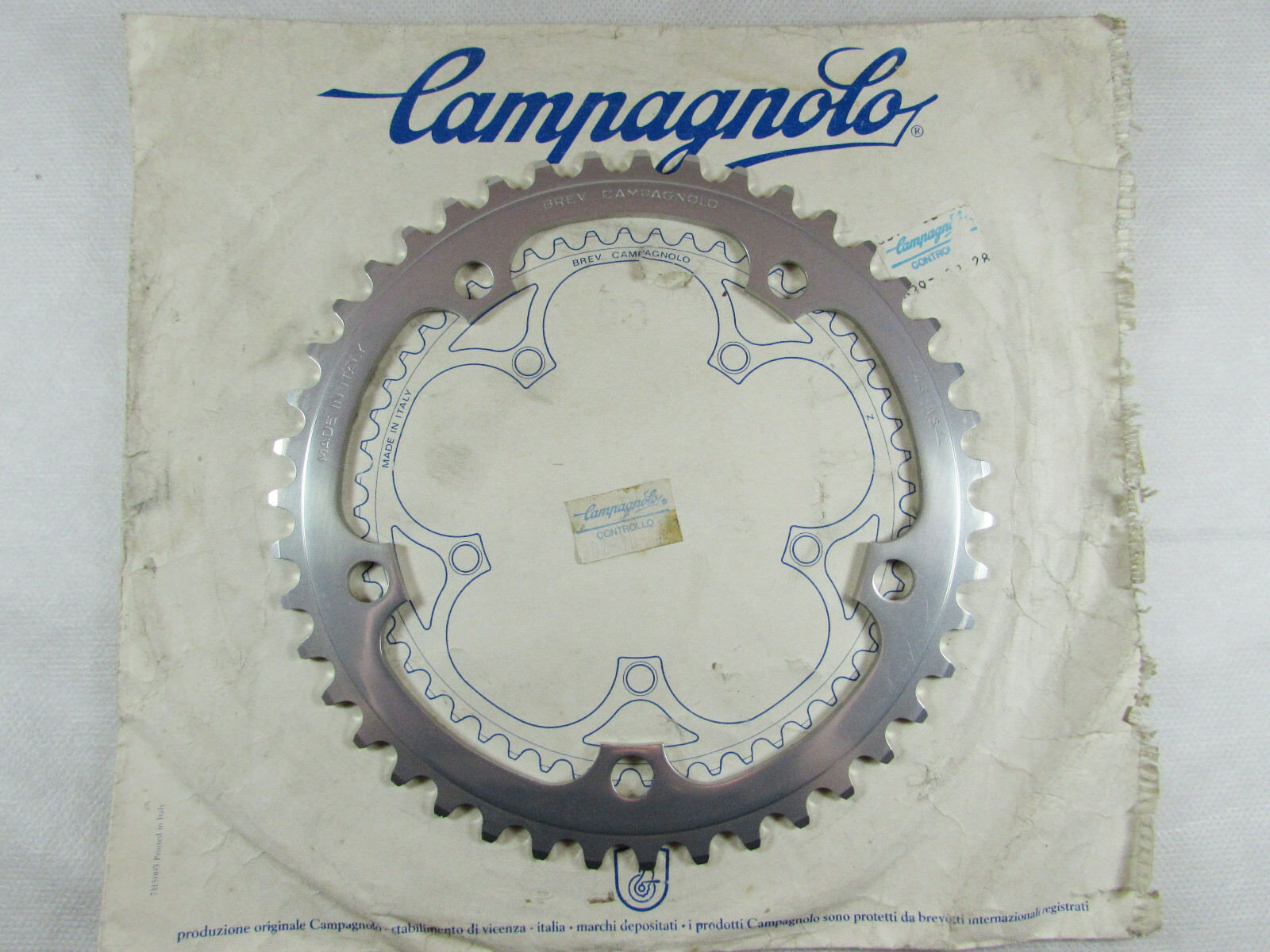 Vintage 80's 90'S NOS CAMPAGNOLO C-RECORD AS 43T Road CHAINRING, Mint