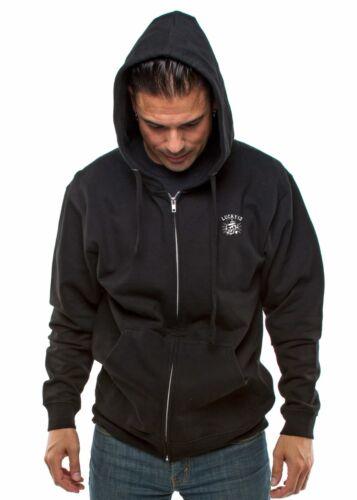 Lucky 13 Death Or Glory Skull Adult Mens Zip Up Hoodie Sweatshirt LM4501DG