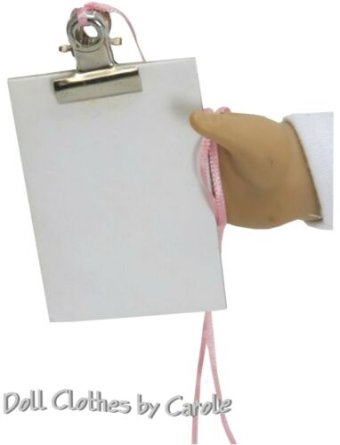 "Accessories Doctor Nurse Clip Board sized for 18/"" American Girl Doll"