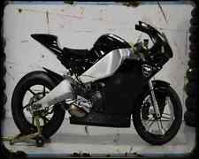 Buell 1125Rr Race A4 Photo Print Motorbike Vintage Aged