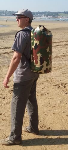 CAMO Waterproof dry bag. Padded straps. 45 L carry lots of kit. KEEP THINGS DRY