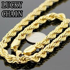 24''STAINLESS STEEL GOLD ROPE CHAIN NECKLACE BRACELET SET 150g A32