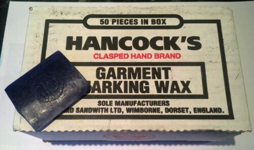 2 x Piece NEW /& Unused Hancocks Tailoring Tailors Chalk\Wax in various Colours