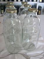 Mostflasche / Saftflaschen Mit Deckel - 6er Pc; Neu (1,10€-1,20€/stück)