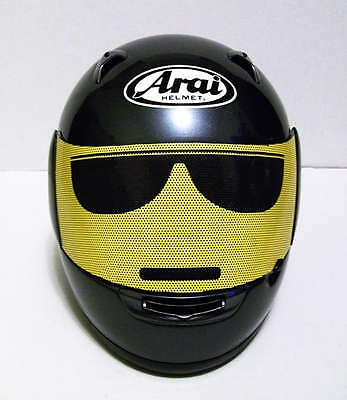 Motorcycle Helmet Shield Graphic - Cool LEGO (yellow)