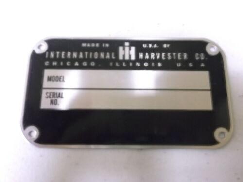 New Farmall IHC Serial Number Tag 400 404 424 450 460 504 560 600 606 656 660