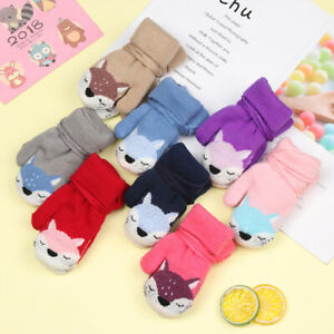Cute-Cartoon-Fox-Baby-Gloves-Winter-Knit-Wool-Newborn-Velvet-Thick-Warm-Mittens