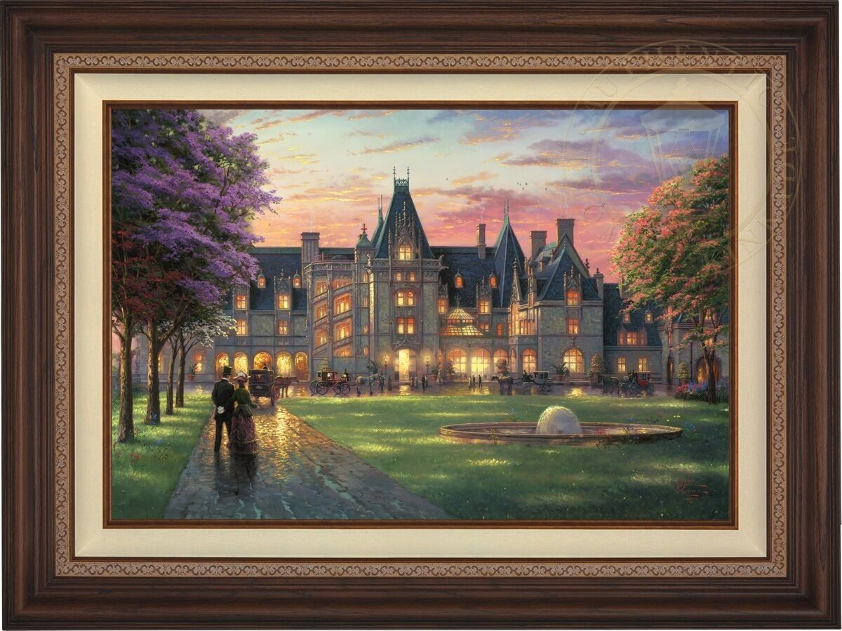 Thomas Kinkade ELEGANT EVENING - BILTMORE 24  x 36  LE S N Canvas (Walnut Frame)
