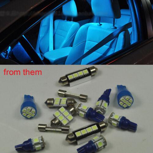 7x Ice Blue LED No Error Light Interior Package Kit For Nissan 370Z Z 2009-2011