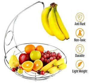 2-in-1-Chrome-Fruit-Tree-Bowl-with-Banana-Hanger-Decorative-Fruit-Basket-Rack