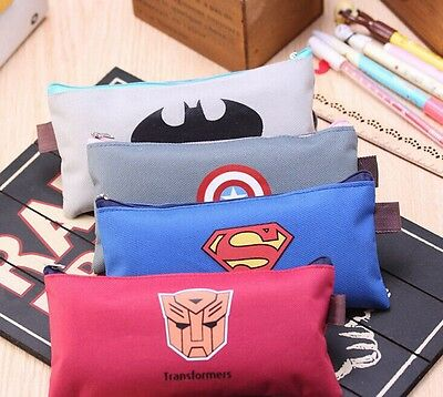 Cute Student Pencil Pen Case Cosmetic Pouch Pocket Brush Holder Makeup Bag