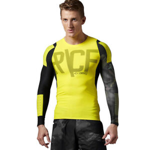 382544aeb5 Details about T-shirt Reebok CrossFit Compression Mens Long Sleeve Training  Top SpeedWick