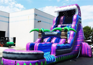 Details about 35x15x20 Commercial Inflatable Water Slide Obstacle Course  Bounce House Castle