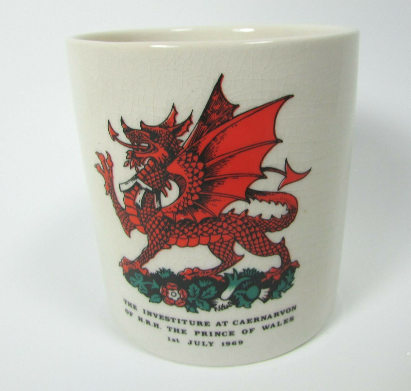 Vintage Crown Ducal Investiture at Caernarvon The Prince of Wales 1969 Mug Cup