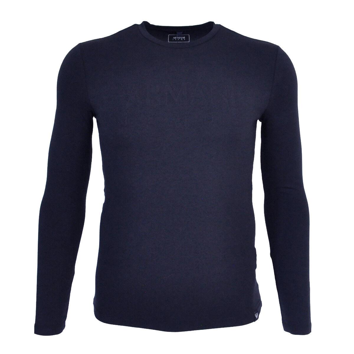 ARMANI JEANS Langarmshirt Shirt Aufdruck Logo Print 6Y6T74 6J0AZ Gr.S - 3XL 2018
