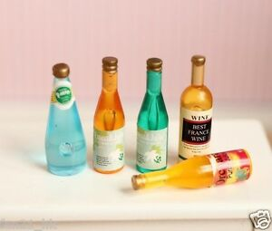 Accessories Miniature Dollhouse of different Wine & Drink re-ment Size