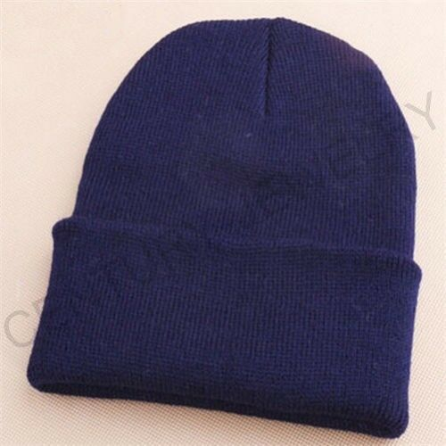 Men/'s Women Beanie Knit Ski Cap Hip-Hop Blank Color Winter Warm Unisex Wool Hat