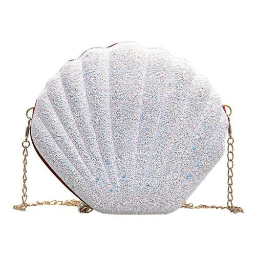 Cute Sequins Shoulder Bag Messenger Handbags Women Chain Shell Crossbody Bags