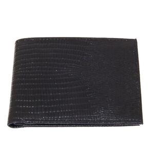 Genuine-Leather-Mens-Wallet-Bifold-ID-Card-Case-Ostrich-or-Snakeskin-Black-Brown