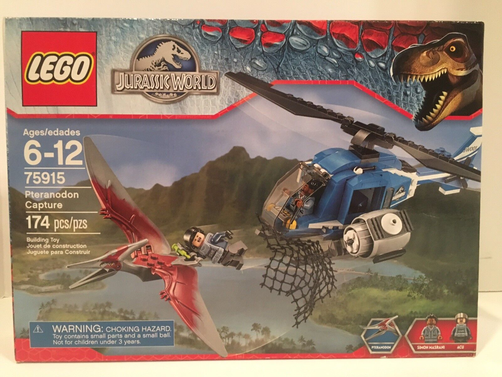 LEGO 75915 Jurassic World Pteranodon Capture   NEW  174 PIECES