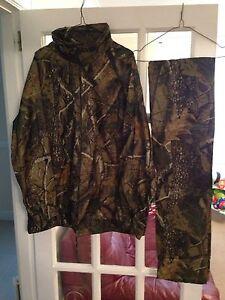 Realtree Camouflage Veste Imperméable & Pantalon Pêche à La Carpe Chasse Neuf Taille Xl-afficher Le Titre D'origine