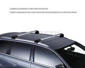 Bamboli Lockable Roof Rack for Porsche Cayenne 2003-2010 V3 Silver Aluminium Cross Bar