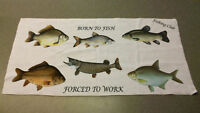Coarse Or Game Fishing Towel Angling Gift Personalised
